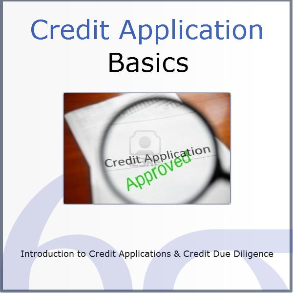 credit application basics online course credit risk store com